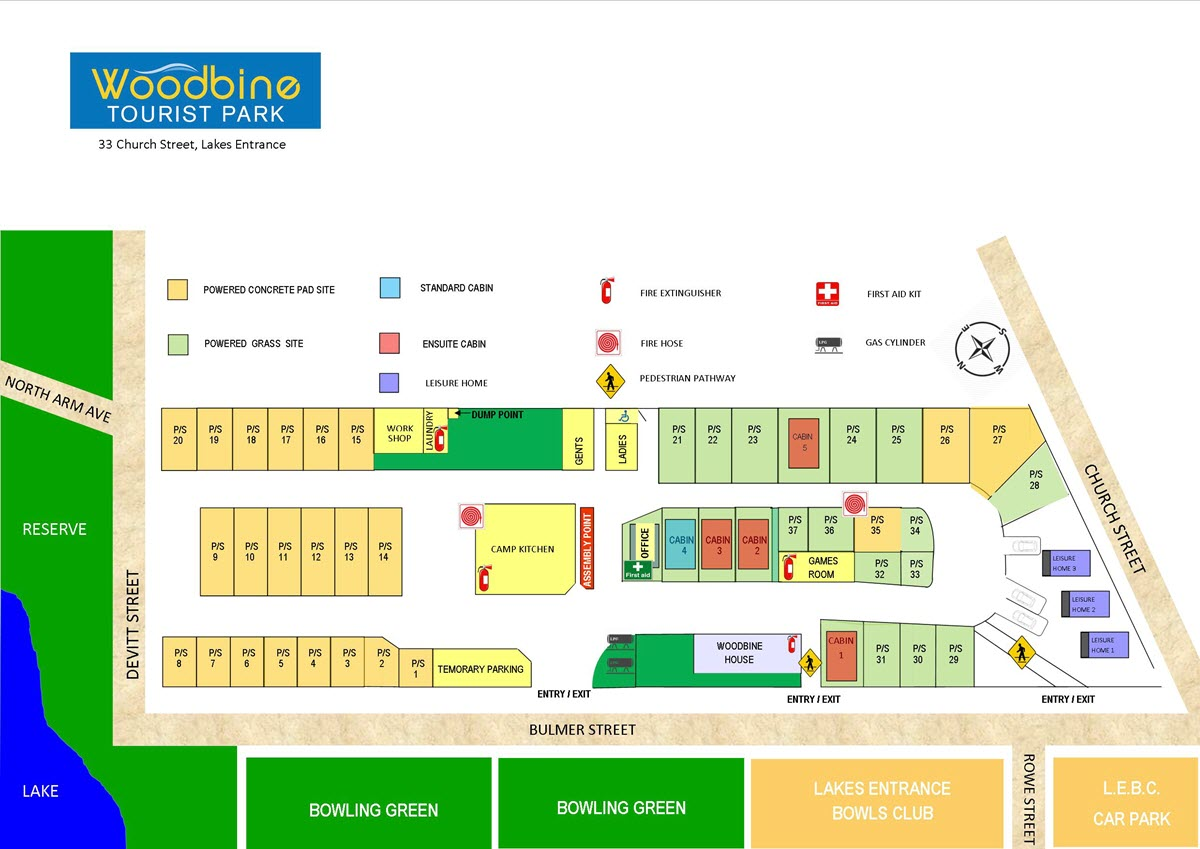 Woodbine Tourist Park Map